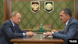 Юнус-Бек Евкуров на встрече с Владимиром Путиным