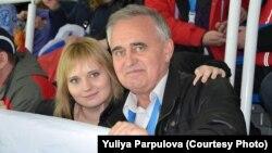 Петр Парпулов с дочерью Юлией