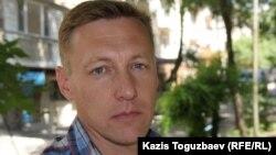 ҰҚК-нің запастағы полковнигі Андрей Коркин. Aлматы, 12 маусым 2015 жыл.