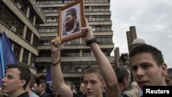 Proslava ukidanja presude Draži Mihailoviću u Beogradu