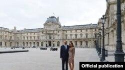 Ilham Əliyev və Mehriban Əliyeva Parisin Luvr müzeyində