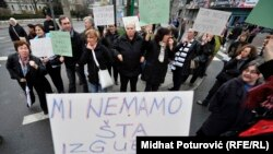 Protesti u Sarajevu 21. februara 2014.