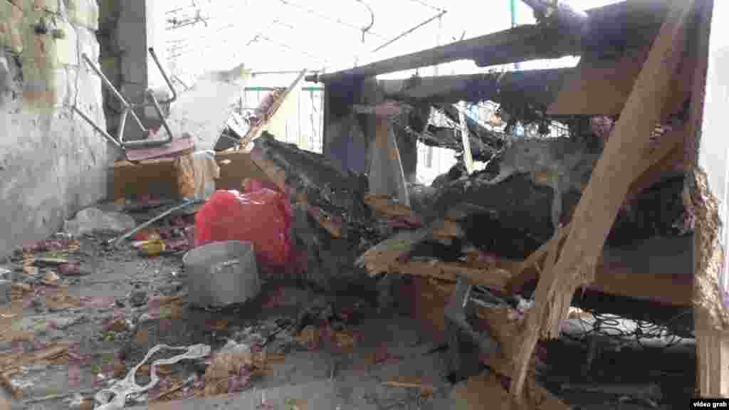 Руйнування в азербайджанському селищі Тертер в результаті артилерійського обстрілу 3 квітня