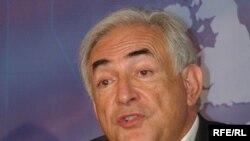 Виконавчий директор Міжнародного валютного фонду Домінік Строс-Кан на конференції в Яльті 11 липня 2008 р.