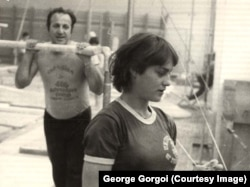 Comăneci George Gorgoi román edzővel