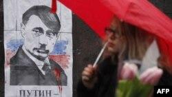 Kiyevdə Putin-in şəkli