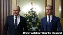 В.Путин и Д.Медведев 26 декабря 2018 года
