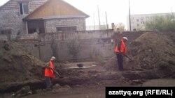 В городе Семей идет ремонт. Иллюстрационное фото.