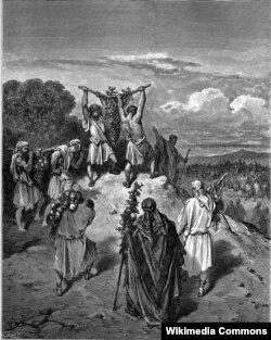 Гюстаў Дарэ, «Вяртаньне выведнікаў з Абяцанай Зямлі»