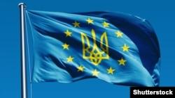 Герб Украины на флаге ЕС.
