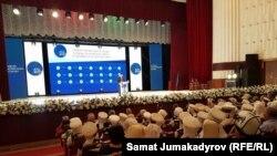 "Съезд партии ""Ата-Журт"" в Бишкеке. 18 июля 2017 года."