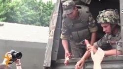 Украина армияси славянскликларга озиқ-овқат тарқатмоқда
