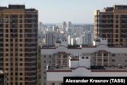 """Вид на новый жилой квартал """"Бутово парк"""""""