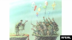 Ресейлік карикатурашы Михаил Златковский салған шымшыма сурет.