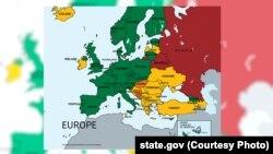 მწვანე - ქვეყანა აკმაყოფილებს სტანდარტს; ყვითელი - ქვეყანა ბოლომდე ვერ აკმაყოფილებს სტანდარტს; ნარინჯისფერი - ქვეყნები დაკვირვების ქვეშ; წითელი - ქვეყანა ვერ აკმაყოფილებს ტრეფიკინგთან ბრძოლის მინიმალურ სტანდარტს.