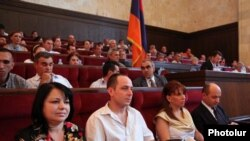 Armenia - The opposition Zharangutyun (Heritage) party holds a congress in Yerevan.