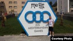Дејан Богданов на Медитеранските игри во турскиот град Мерсин.