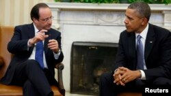 Ֆրանսուա Օլանդ և Բարաք Օբամա, արխիվ
