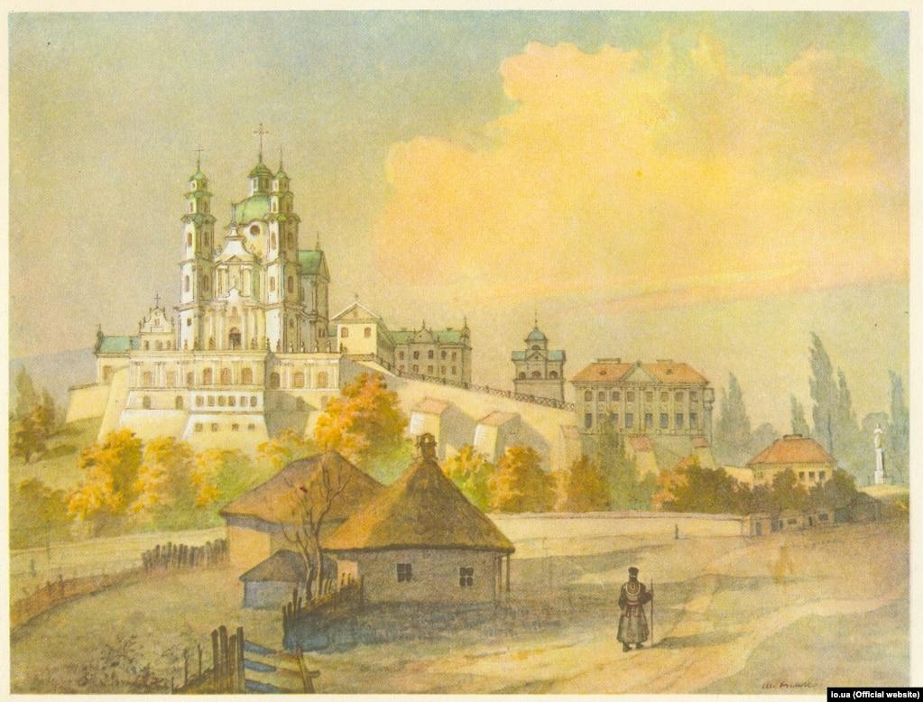 Тарас Шевченко «Почаївська лавра з півдня» (акварель), 1846 рік