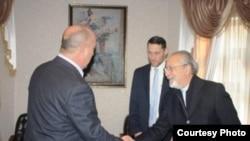 Встреча Сэма Гежденсона с заместителем министра внутренних дел Таджикистана