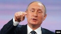 Президент России Владимир Путин. Москва, 17 декабря 2015 года.