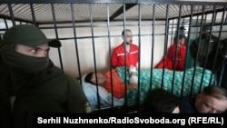 Роман Насіров на ношах у залі суду, 5 березня 2017 року