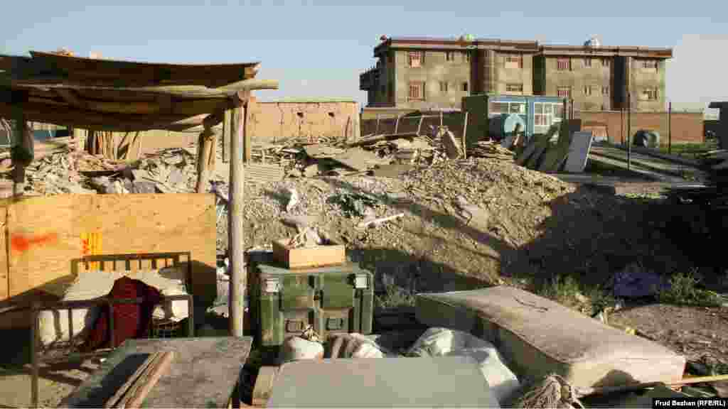 One of many scrapyards in the town of Bagram.