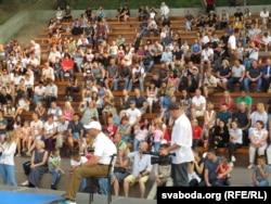 Паглядзець на целаахоўнікаў з розных краін прыйшла больш як тысяча гледачоў
