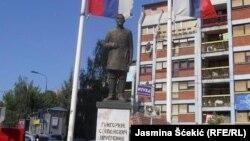 Rusima problem viza za Kosovo: Spomenik Grigoriju Stepanoviču Ščerbinu u Severnoj Mitrovici