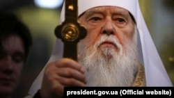 Filaret, the leader of the Ukrainian Orthodox Church of the Kyiv Patriarchate
