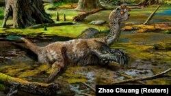 Naučnici vjeruju da je bio zarobljen u blatu 66-72 miliona godina: Umjetničko viđenje zarobljenog dinosaura