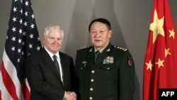 U.S. Defense Secretary Robert Gates (left) and his Chinese counterpart, General Liang Guanglie, held talks today in Hanoi.