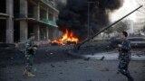عناصر من الجيش اللبناني في موقع تفجير هز وسط بيروت الجمعة 27/12/2013.