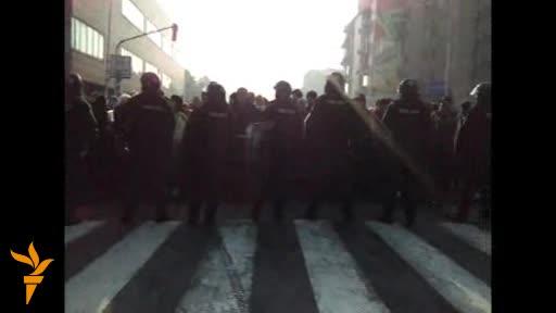 Protestat para Kuvendit të Maqedonisë