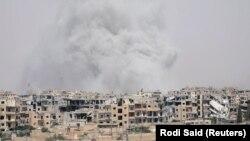 Панорама міста Ракка, 28 липня 2017 року