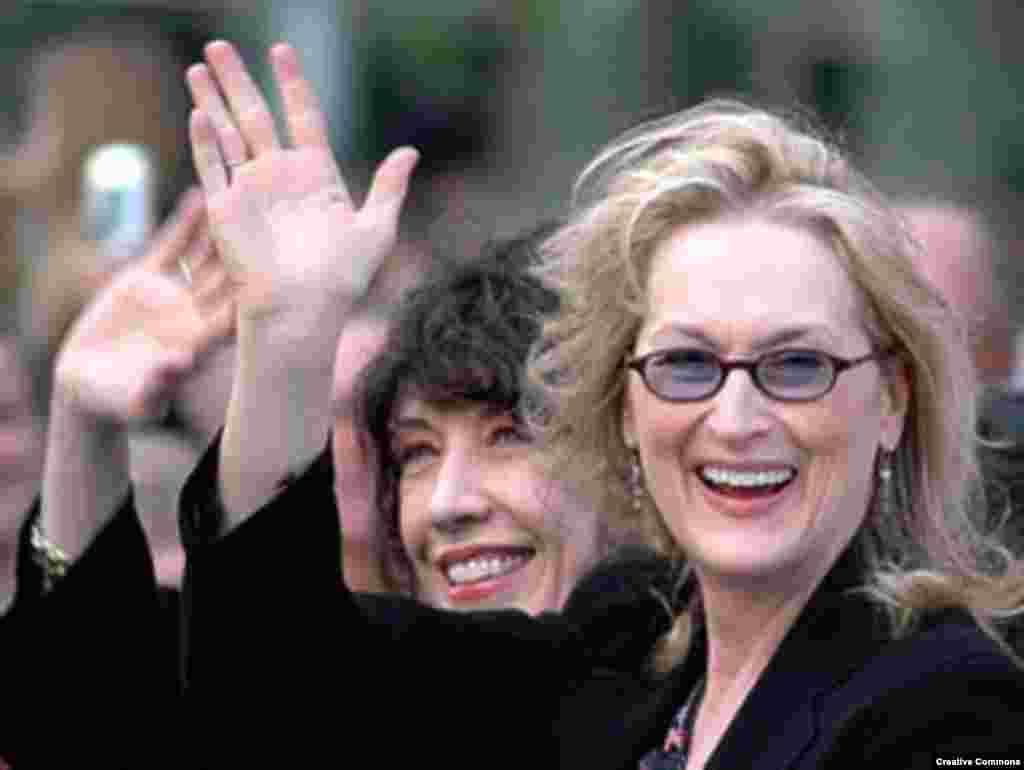 مریل استریپ - در عوض مریل استریپ که رکورددار نامزدی جایزه بهترین بازیگر نقش اول زن در اسکار است، نتوانست یه اسکار دیگر به دو اسکار قبلیاش اضافه کند