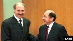 Аляксандар Лукашэнка і Барыс Беразоўскі