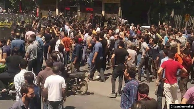 Protests in the central city of Isfahan, August 1, 2018