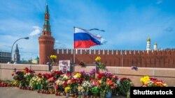 Місце убивства опозиціонера Бориса Нємцова. Москва, Росія