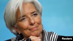 Глава Международного валютного фонда Кристин Лагард. Вашингтон, 17 января 2013 года.