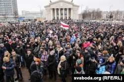 """""""Марш рассерженных белорусов"""" в Гомеле, 19 февраля 2017 года"""