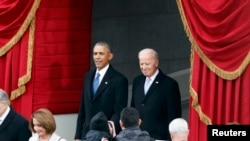 Ish-presidenti amerikan, Barack Obama dhe ish-nënpresidenti, Joe Biden. Fotografi nga arkivi.