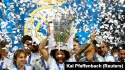 Мадридській «Реал» святкує перемогу в фіналі Ліги чемпіонів над «Ліверпулем». Київ, 26 травня 2018 року