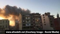 Момент взрыва на Синае, 9 января 2017 года