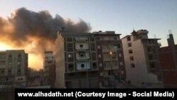 Pamje nga eksplodimi i sotëm në El-Arish të Egjiptit