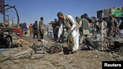 Жарылыстан соң. Кветта, Пәкістан, 8 қазан 2012 ж.