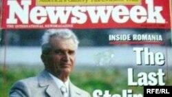"""Диктатор Николае Чаушеску """"Newsweek"""" апталыгынын биринчи бетинде. Август, 1989-жыл."""