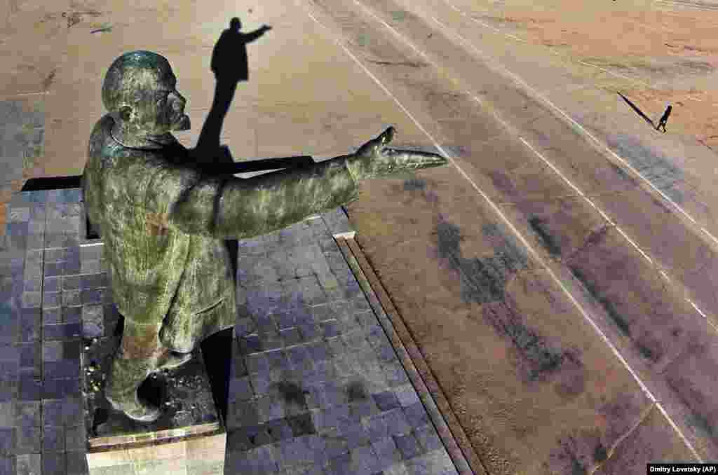 Baikonur Cosmodrome, Kazakhstan: This Lenin will be gesturing for a while to come -- the Baikonur space port has been leased to Russia until 2050.