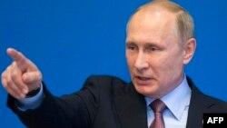 Путин Бээжиндеги басма сөз жыйында. 15-май, 2017-жыл.