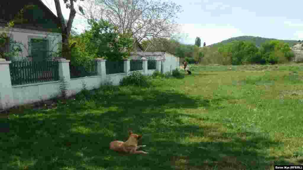 Идиллия рядом с сельской площадью